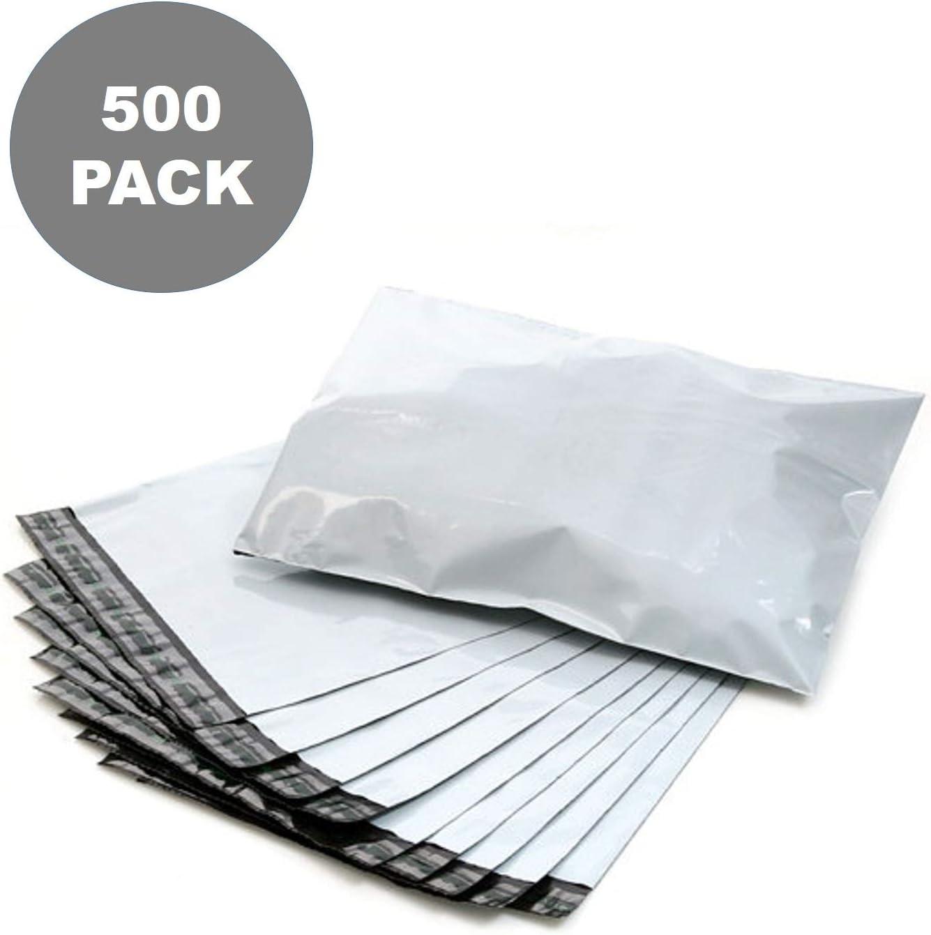 500 12x15.5 TUFF Poly Mailers 12 x 15.5 White Self Sealing Bags Envelopes