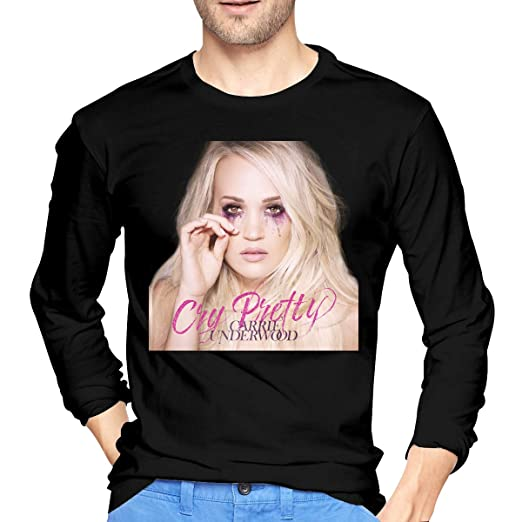 56eaacbd QIYYQI Carrie Underwood Cry Pretty Mens T Shirts Men's T Shirt Black