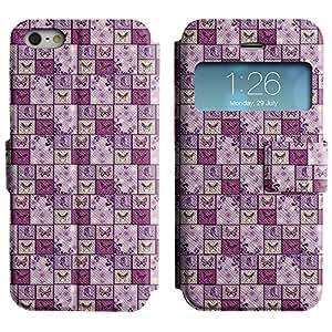 LEOCASE mariposa surtidos Funda Carcasa Cuero Tapa Case Para Apple iPhone 5 / 5S No.1003922