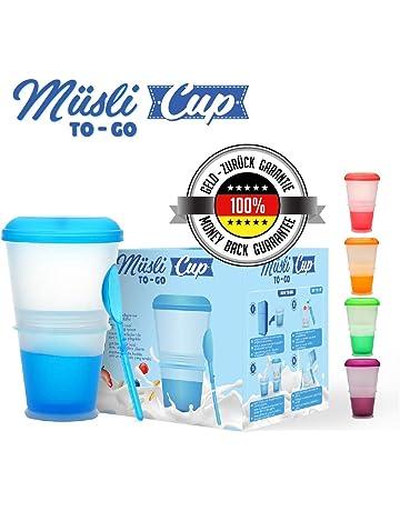 Muesli To Go –Taza para Cereales/Granola con Compartimento Refrigerado para Leche o Yogur