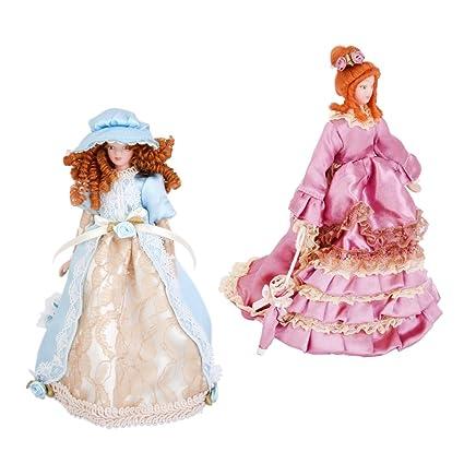 casa de muñecas en miniatura ropa De Muñeca Pink Ladies Sombrero