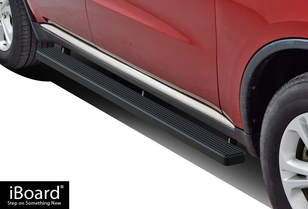 APS IBDZ5747 Black 4' Running Board Side Step (iBoard Third Generation, for Selected Dodge Durango, Aluminum)