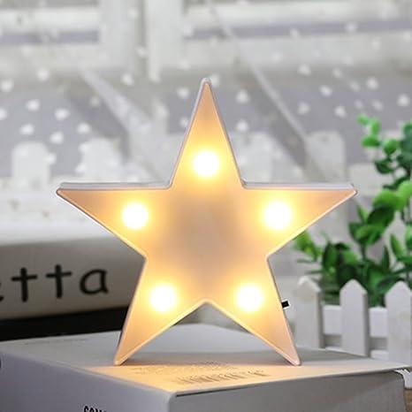 Amazon.com: 3D Star Light,LED plastic Star Shaped Sign-Lighted ...