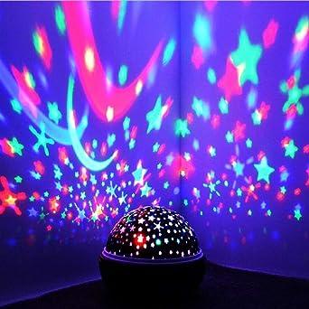 Proyector de luz nocturna Spin Starry Sky Star Master Giratorio ...