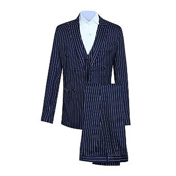 Amazon.com: Startview Mens Slim 2-Piece Suit Stripe Full ...