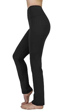 b1e188cb9b0c4 Yogalicious High Waist Soft Nude Tech Straight Leg Yoga Pants for Women -  Black - XS