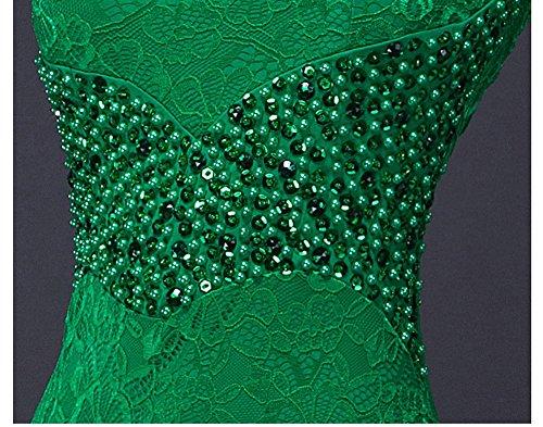 mit Beauty Nixe Grün tiefem V Spitze Ohne Emily Bodycon Rückenfrei Abendkleid Arm Ausschnitt qapwa6tR