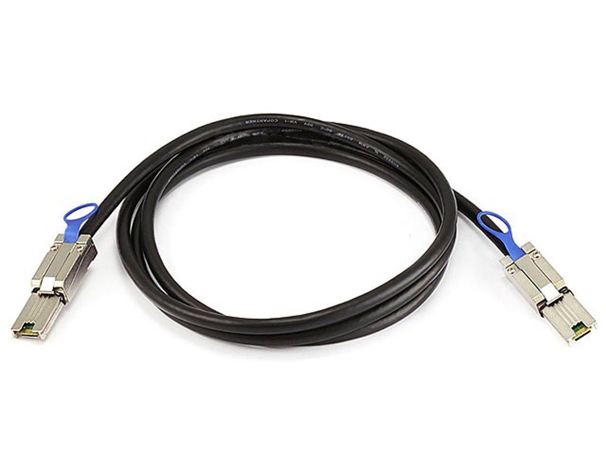Monoprice 2m 28AWG External Mini SAS 26-Pin SFF-8088 Male to Mini SAS 26-Pin SFF-8088 Male Cable, Black (108185)