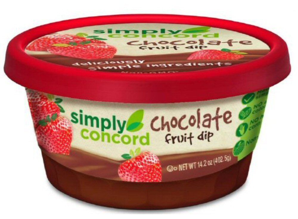 Simply Concord Chocolate Fruit Dip-3 tubs of 14.2 Oz