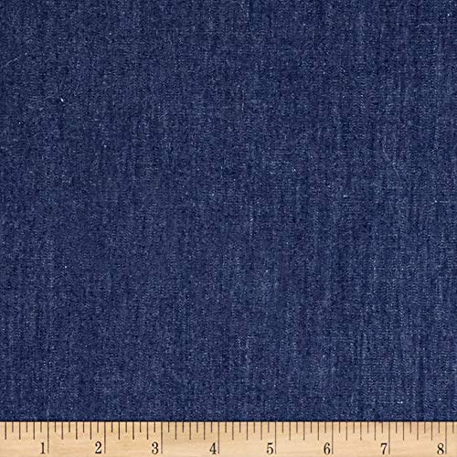 TELIO Dark Blue 4.8 oz Denim Chambray Fabric by The Yard (Cotton Denim Fabric)