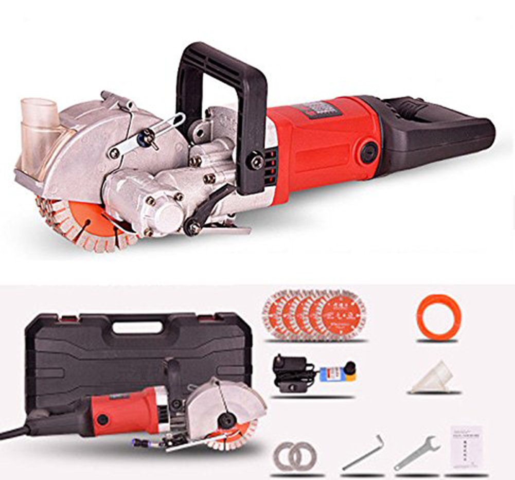 TOPNCES 4000W Multifunction Wall Groove Cutting Machine Wall Chaser Machine for Brick & Granite Marble 220V (Wall Slot Slotting Machine) by TOPCHANCES