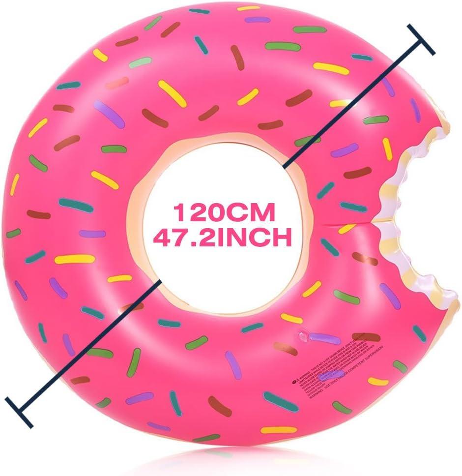 Aufblasbarer Riesen-Donut 120 cm Durchmesser Schwimmring Schwimm-Ring angebissen