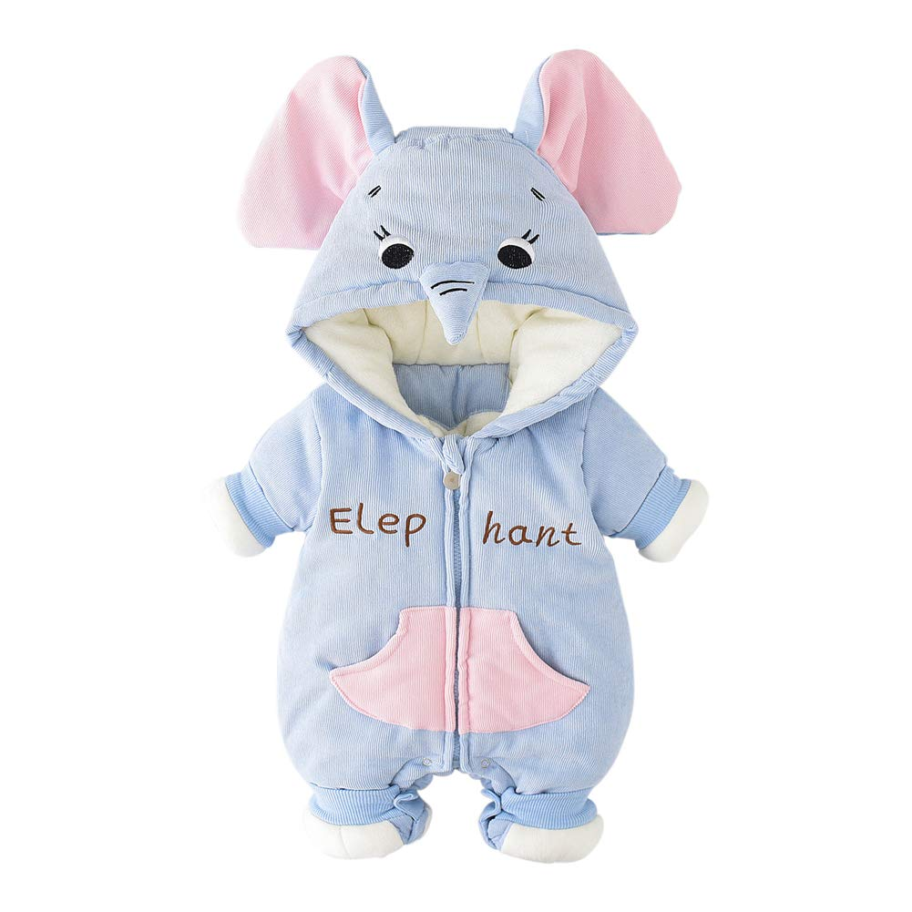 Totor 1bacha Newborns Hooded Rompers Outwears Babys Zipper Jumpsuits