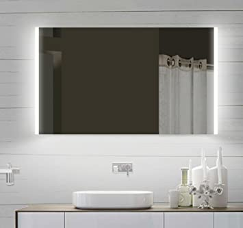 Espejo del baño espejo con luz LED de diseño para baño: Amazon.es ...