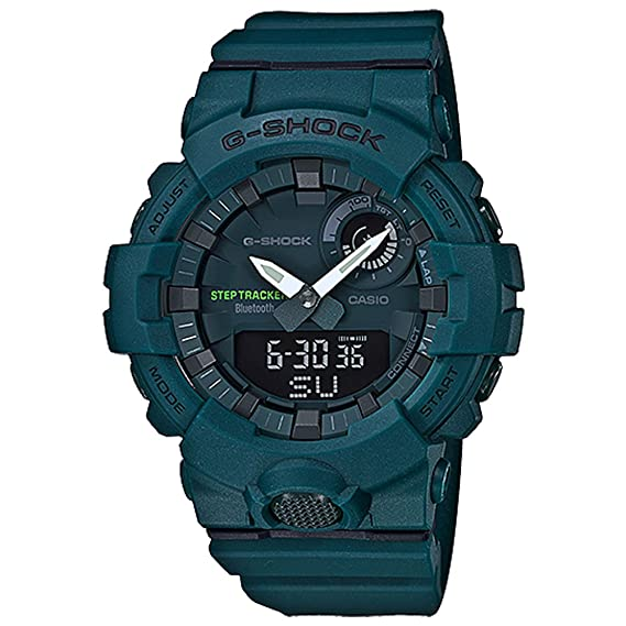 G-Shock Mens Analog-Digital Bluetooth GBA800-3A Watch Green ...