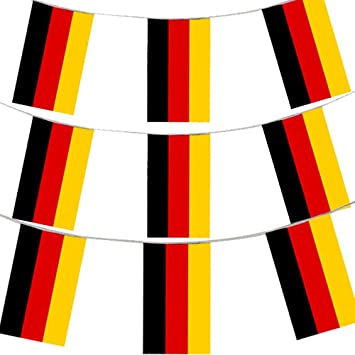 33ft 10 meters german flag bunting germany party euro decoration
