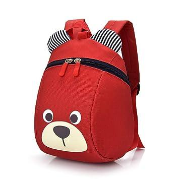 Mochila para niños - Cute Pig Toddler Schoolbag Cajas de Almuerzo para bebés Bolsas para Llevar o Preescolar Kindergarten Bolsas de Libros (Rojo: ...