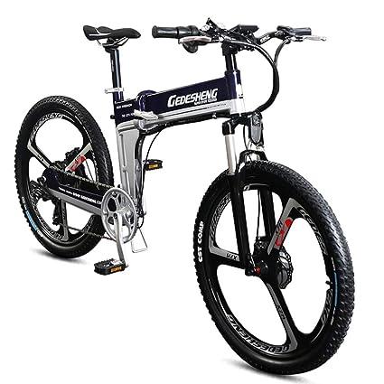 POTHUNTER Z1-26 Bicicleta Eléctrica Plegable, Unisex Adulto, Estándar,Blue-48V10AH