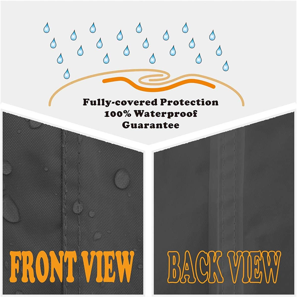 Patio Deck Box Cover to Protect Large Deck Boxes-Waterproof Cover with Zipper and Handles 28in