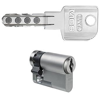 Evva MCS Cerradura (Incluye 5 llaves de alta seguridad Cilindro ...