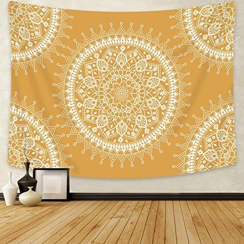 Sevenstars Mandala Tapestry Hippie Bohemian Tapestry Wall Hanging Flower Psychedelic Tapestry for Bedroom Living Room Dorm Home Decor