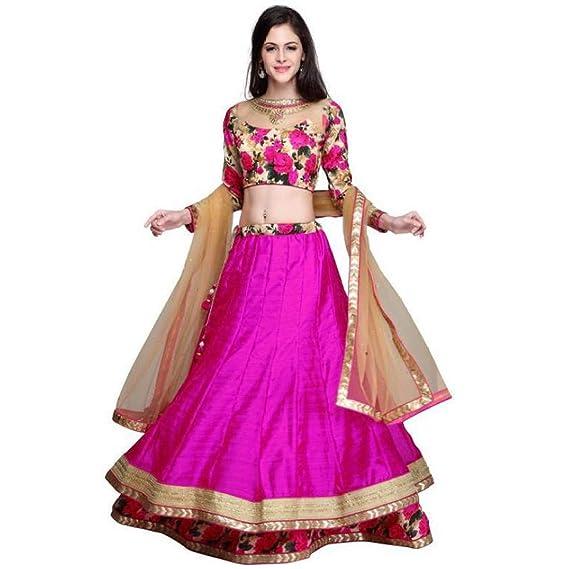 a2ae7cbb47f Active Feel Free Life Women's Lehenga Choli (LA82-Gulabo lehenga-Act56_Pink_Free  Size)