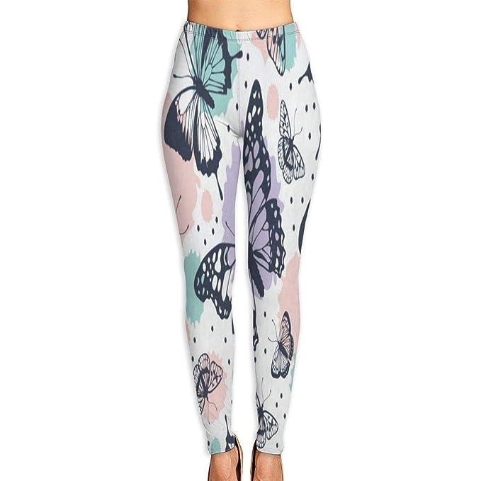 Amazon.com: Pantalones de yoga personalizados con mariposa ...