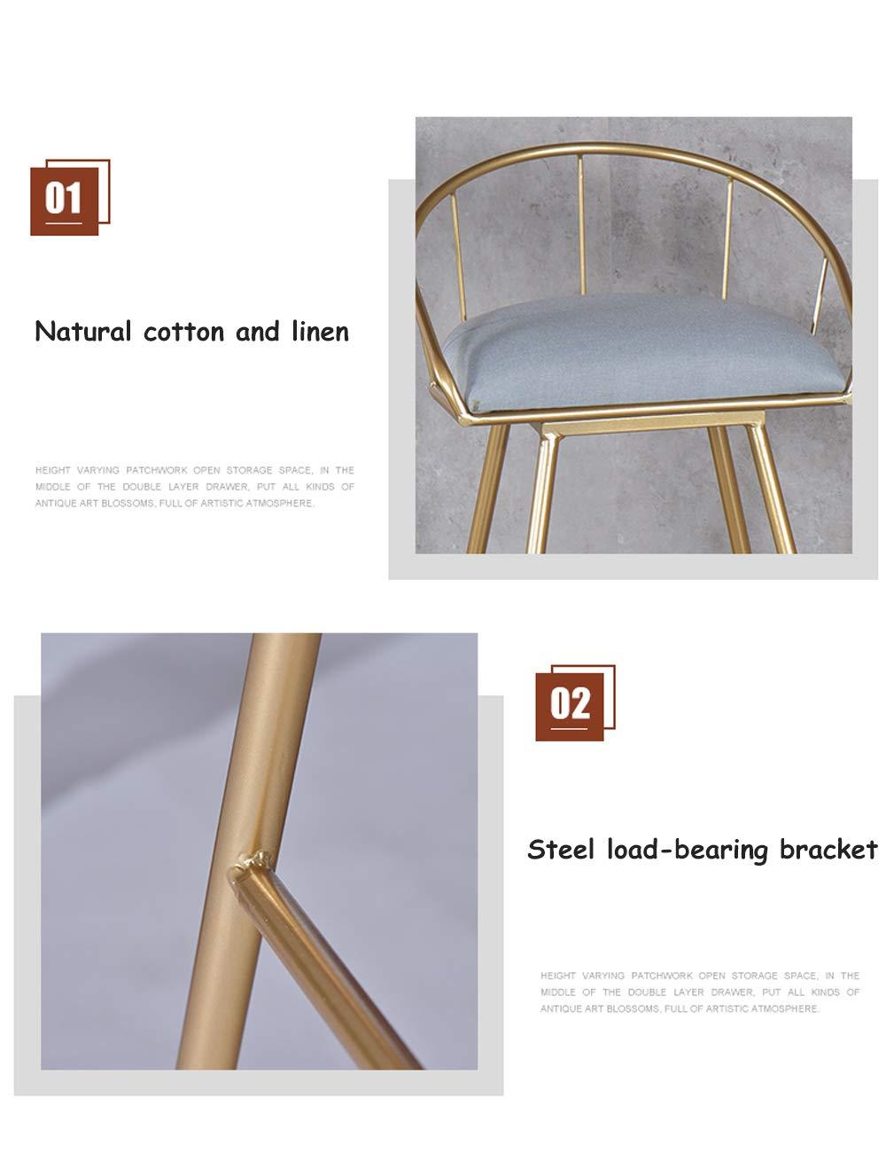 Amazon.com: Taburete alto de hierro para el hogar, soporte ...