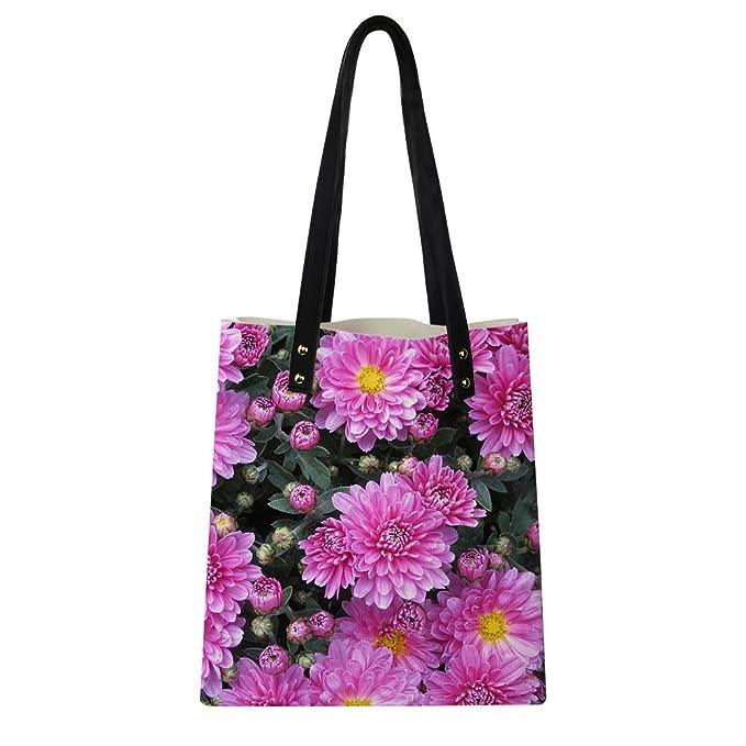 6776b05e12c6 Amazon.com  Amzbeauty Floral Handbags for Women Teen Girls Purse Inside  Cute Small Tote Bag  Clothing