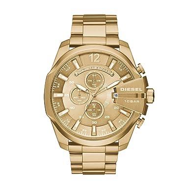 amazon com diesel men s dz4360 mega chief gold watch diesel watches diesel men s dz4360 mega chief gold watch