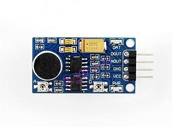 Sensor de sonido Detector de voz amplificador de potencia de audio módulo LM386 Mini inteligente vehículo para Arduino @ xyg-study: Amazon.es: Electrónica