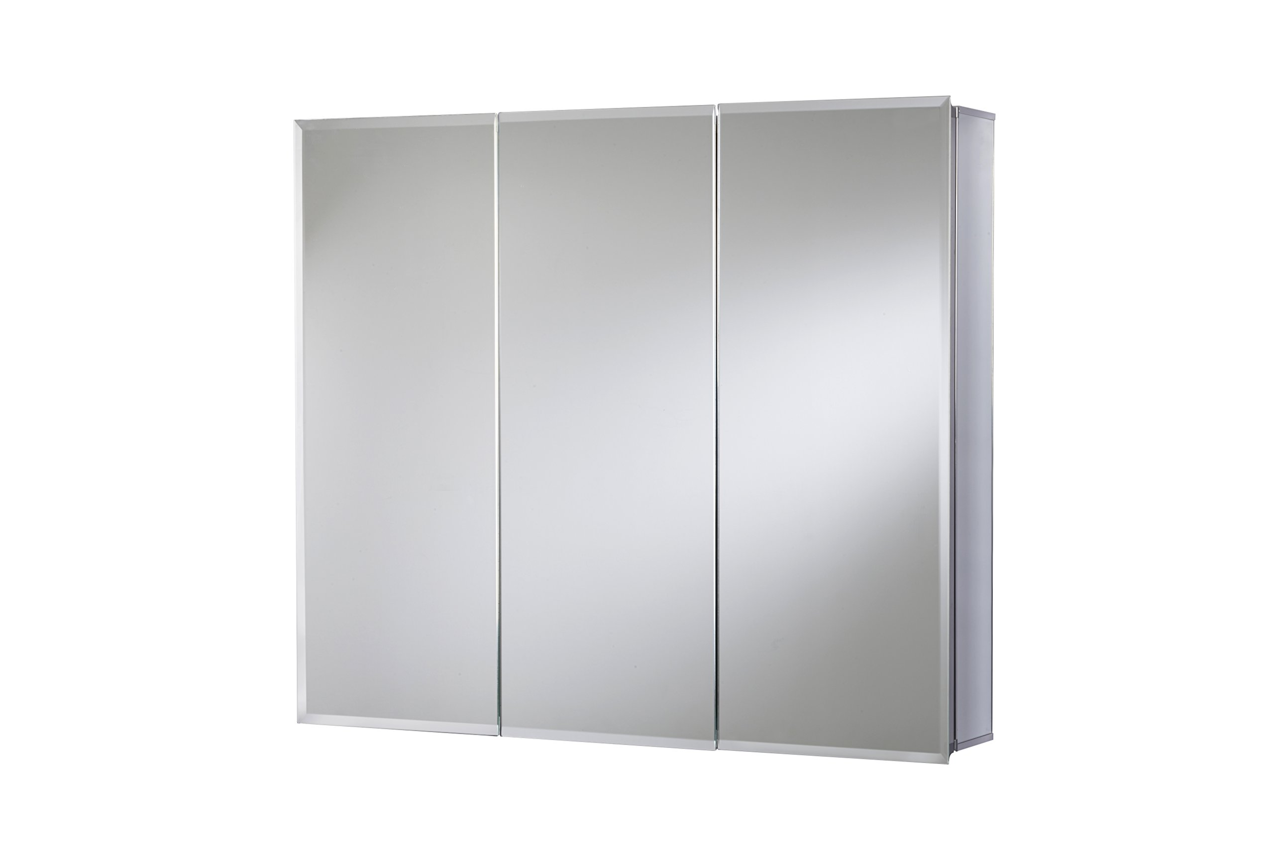 Croydex Kennett 26-Inch x 36-Inch Triple Door Tri-View Cabinet with Hang 'N' Lock Fitting System