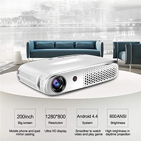 Proyector de Video Android OS Smart 3D DLP Projector6000 ...
