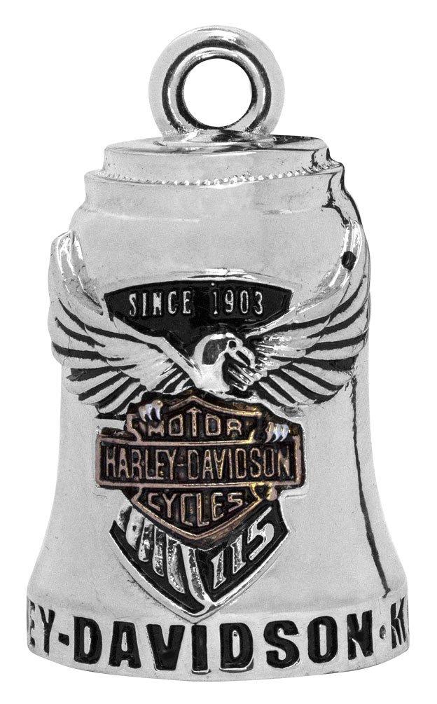 Harley-Davidson Sculpted 115th Anniversary Ride Bell, Silver Finish HDAN-Z04