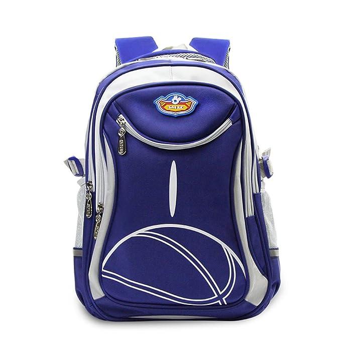 0339ae0f8f SMJM 16 Inch Sports Backpack Girls and Boys Big High School Bag (Blue)