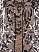 Vijiv Women's 1920s Flapper Dress V Neck Beaded Art Deco Tassel Cocktail Dresses with Sleeves