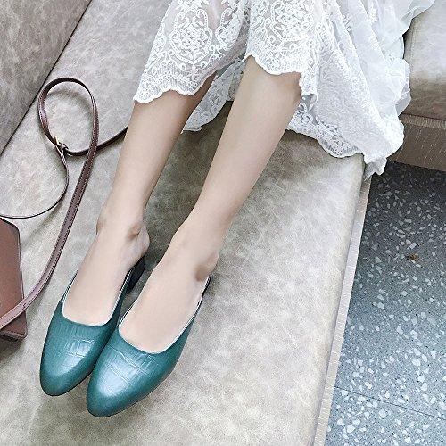 Verde pantofole UK3 Outside EU36 Retro donne indossando ruvido 5 Colore dimensioni Round Slipper Rosso con CAICOLOR Summer cool CN35 scarpe Muler con fCqnP1wU