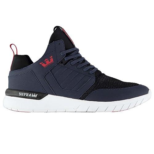 Supra Hombre Method Zapatillas Zapatos Casual Calzado Cordones Azul Marino / Blanco 9 (43)
