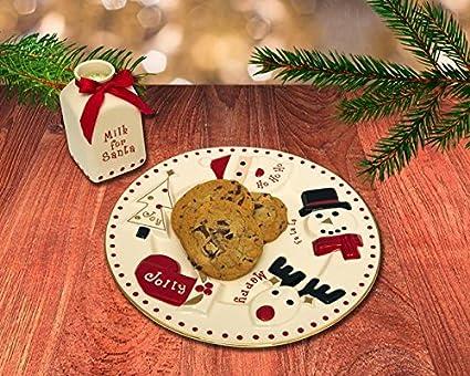 Fao Schwarz Santa Milk And Cookie Set 2 Pieces