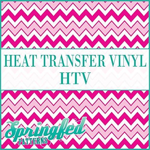 CHEVRON STRIPES PATTERN #1 HTV Pink /& White Heat Transfer Vinyl 12x14 Chevron for Shirts