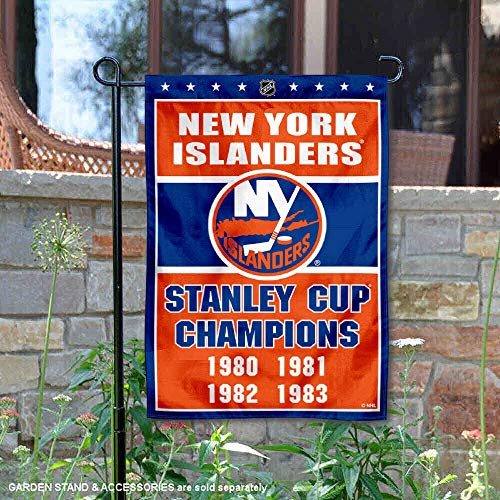 WinCraft New York Islanders 4 Time Stanley Cup Champions Double Sided Garden Flag