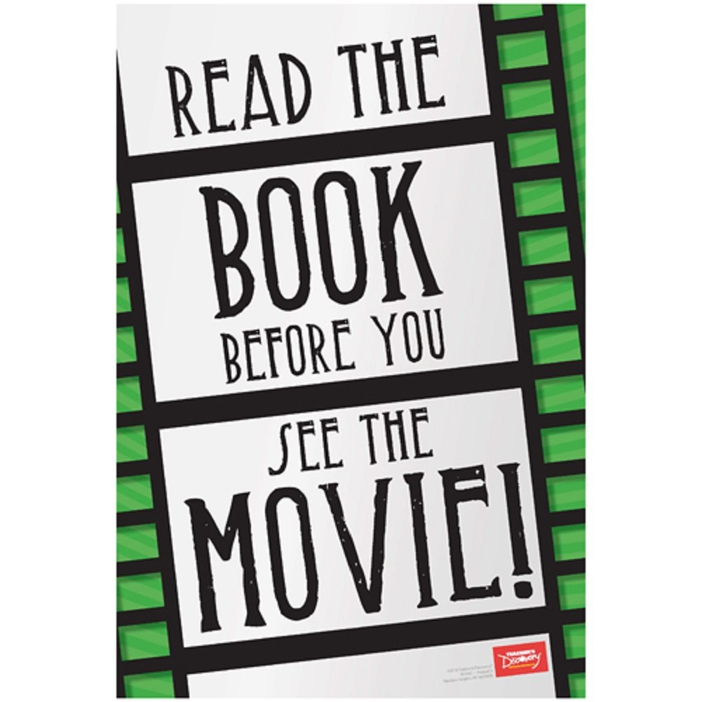Read the Book Before You See the Movie! Library Poster Teacher' s Discovery