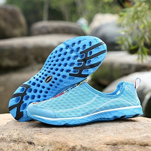 DoGeek Water Shoes Men Women-For Aqua Surf/Beach/Wetsuit Trainers -Lightweight Mesh Water Shoes Blue KWhvIIRPO