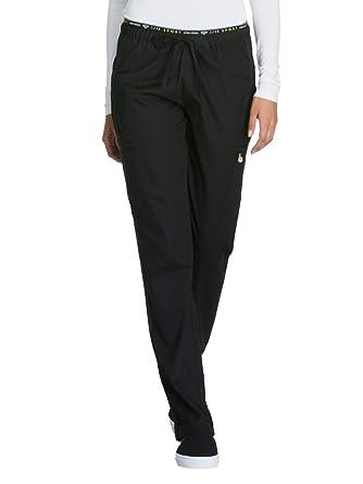 12d91bbe18d Cherokee Women's Luxe Sport Mid Rise Straight Leg Pull-on Pant, Black, XX