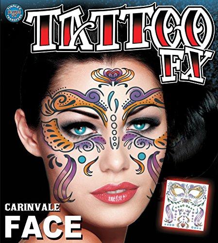 Tinsley Transfers Carnivale Face Temporary Tattoo FX Face Kit (Carnivale Costume Ideas)