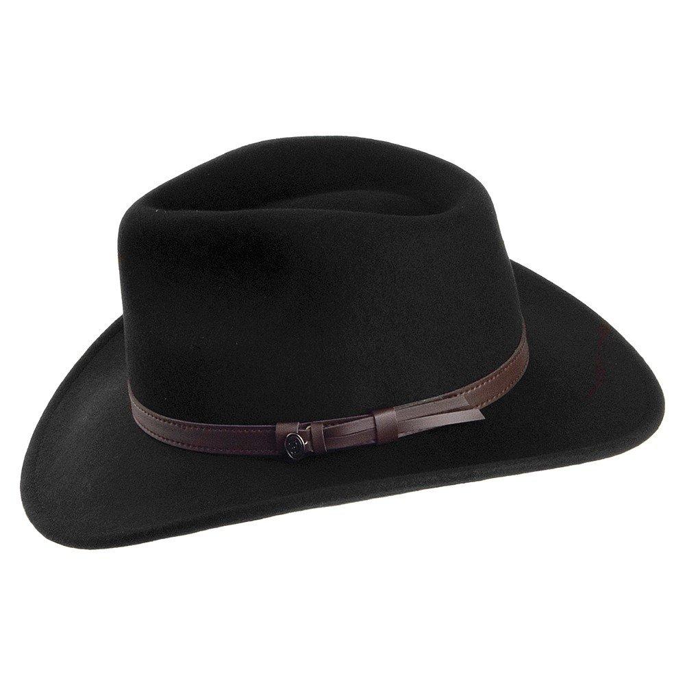 2e0cf166db2ff Jaxon & James Crushable Outback Hat - Black: Amazon.co.uk: Clothing
