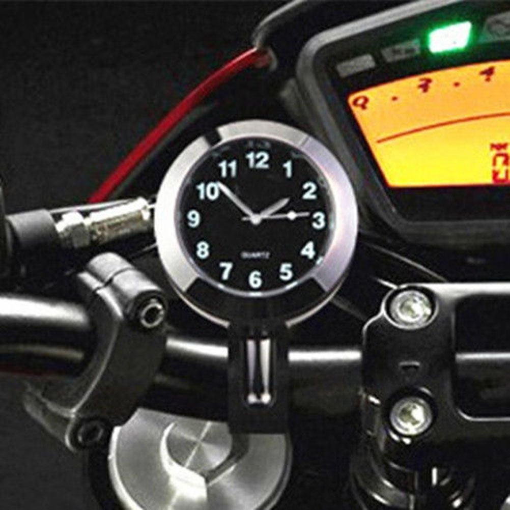VORCOOL Mini Waterproof 7//8 Motorcycle Motorbike Accessory Handbar Mount Digital Clock