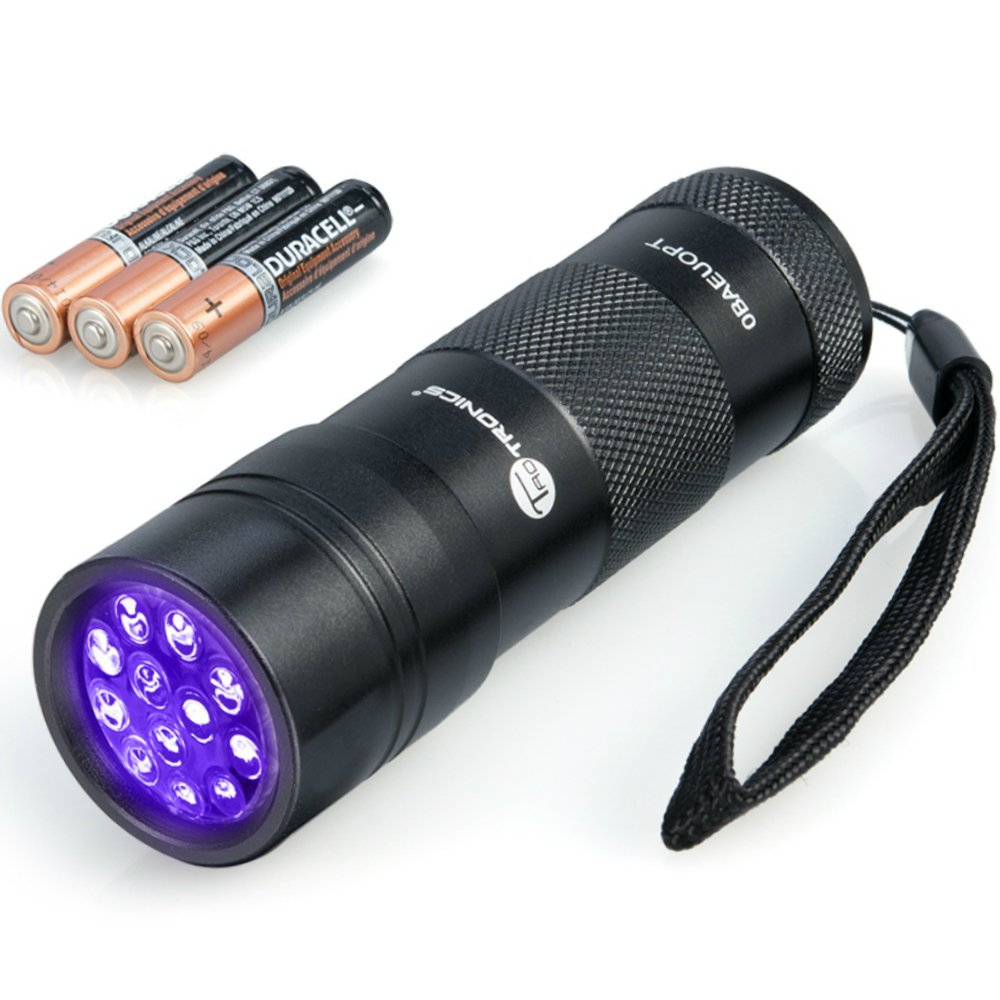 TaoTronics UV Flashlight Blacklight, 12 Ultraviolet Led Flashlight