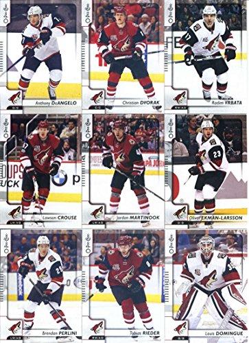 2017-18 O-Pee-Chee Hockey Arizona Coyotes Team Set of 16 Cards: Lawson Crouse(#20), Christian Dvorak(#61), Anthony DeAngelo(#86), Radim Vrbata(#94), Oliver Ekman-Larsson(#125), Jordan Martinook(#155), Louis Domingue(#187), Tobias Rieder(#206), Shane Doan(#212), Brendan Perlini(#271), Max Domi(#318), Jakob Chychrun(#357), Jamie McGinn(#388), Anthony Duclair(#419), Alex Goligoski(#478), Mike Smith(#488)