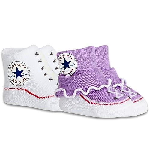 Converse - Calcetines - para bebé niña Lilac/White: Amazon.es: Zapatos y complementos